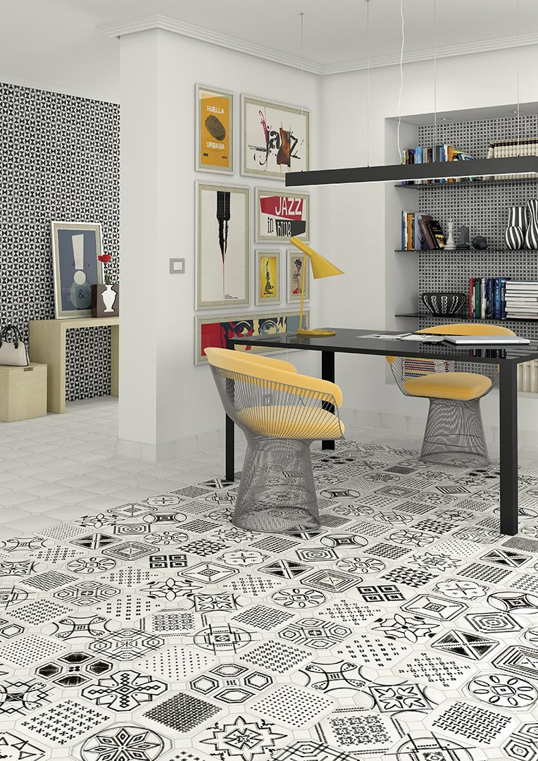 Encaustic cement tiles for Living rooms | Vodevil