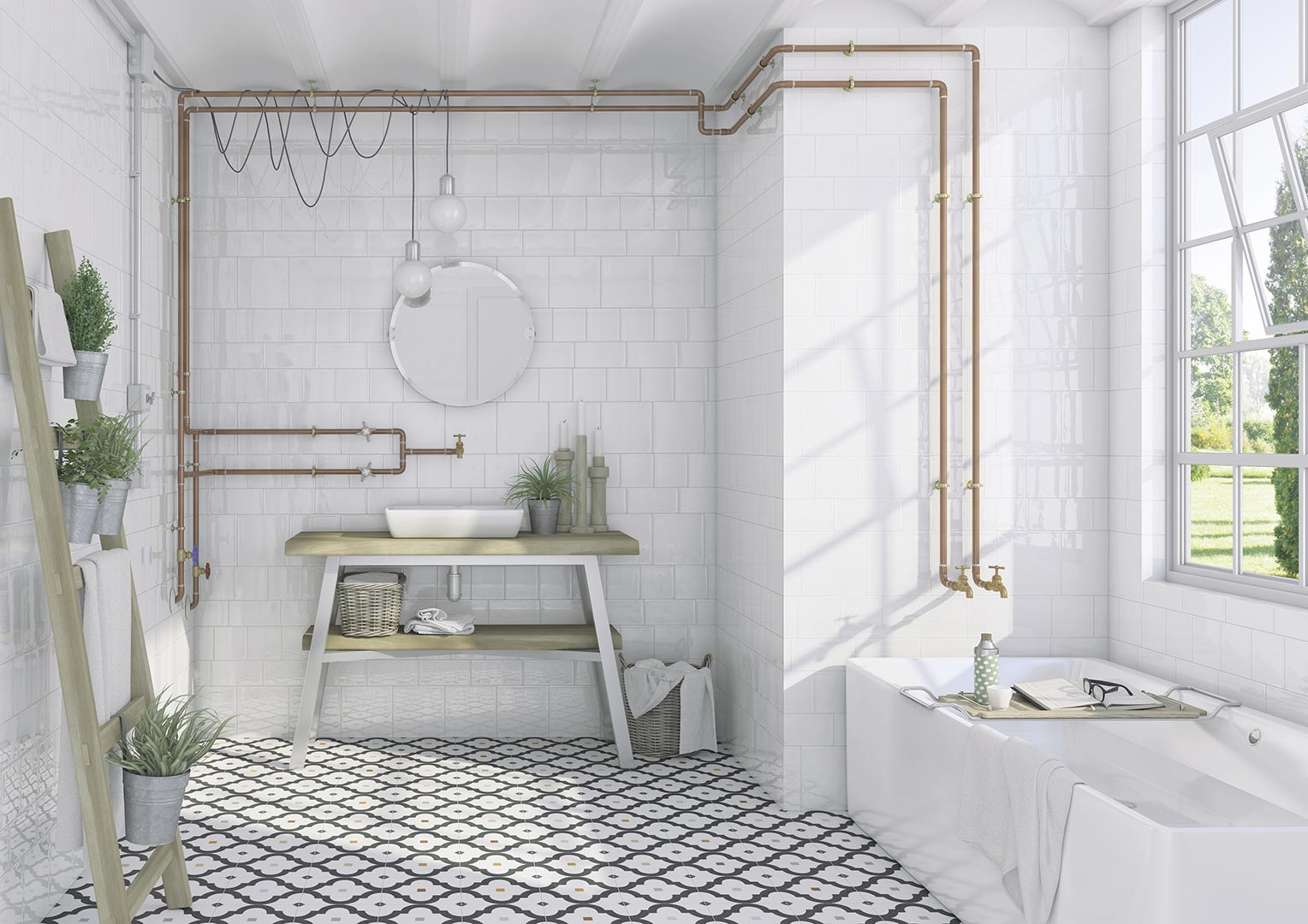 Ceramic heritage for Bathrooms | Etnia