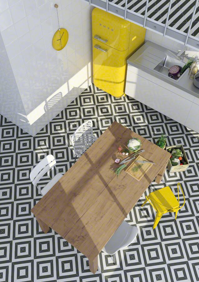 Encaustic cement tiles for Kitchens | Maori