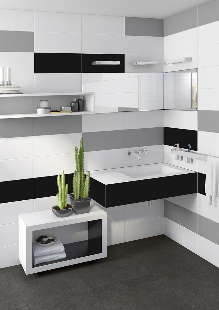 White tiles for Bathrooms | Satinados