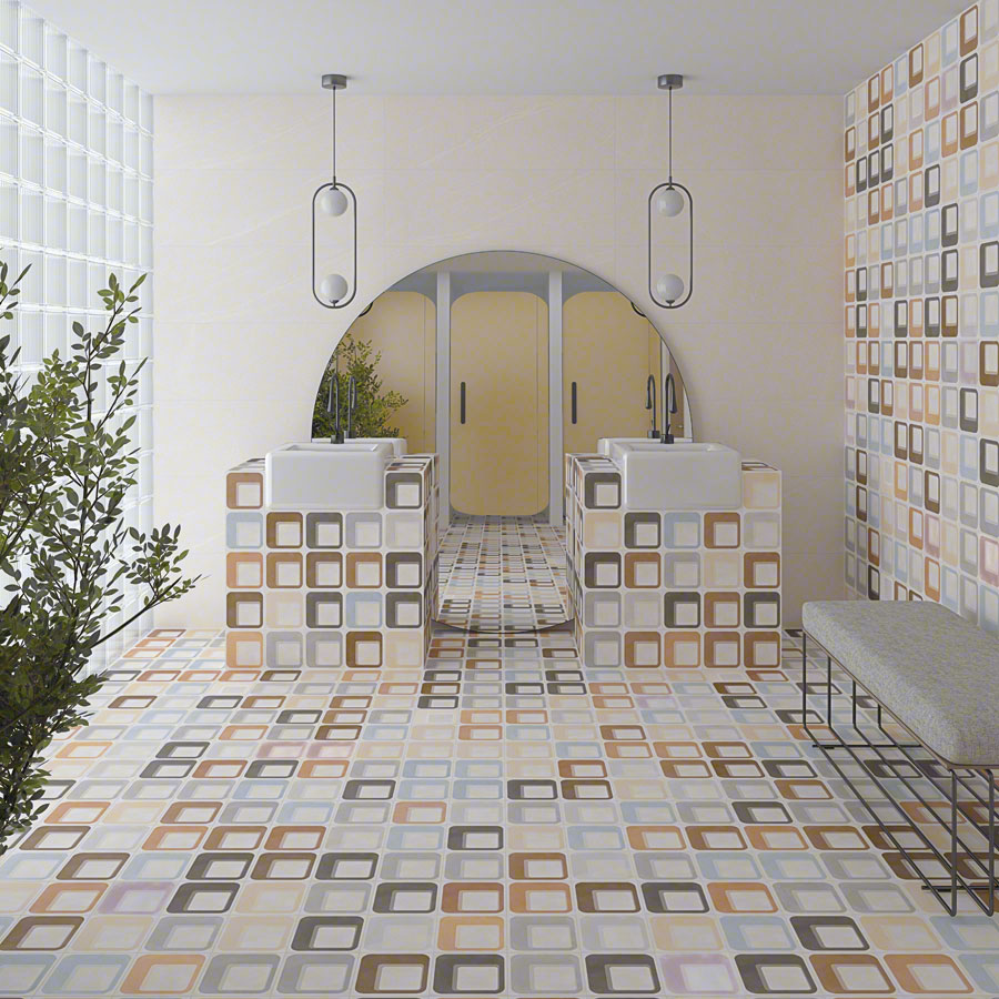 Encaustic cement tiles for Bathrooms | Pop tile
