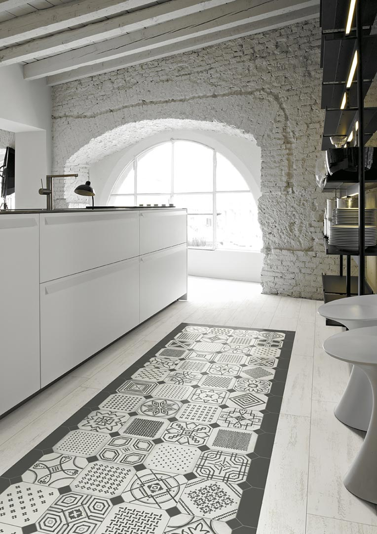 Encaustic cement tiles,wood for Kitchens | Vodevil