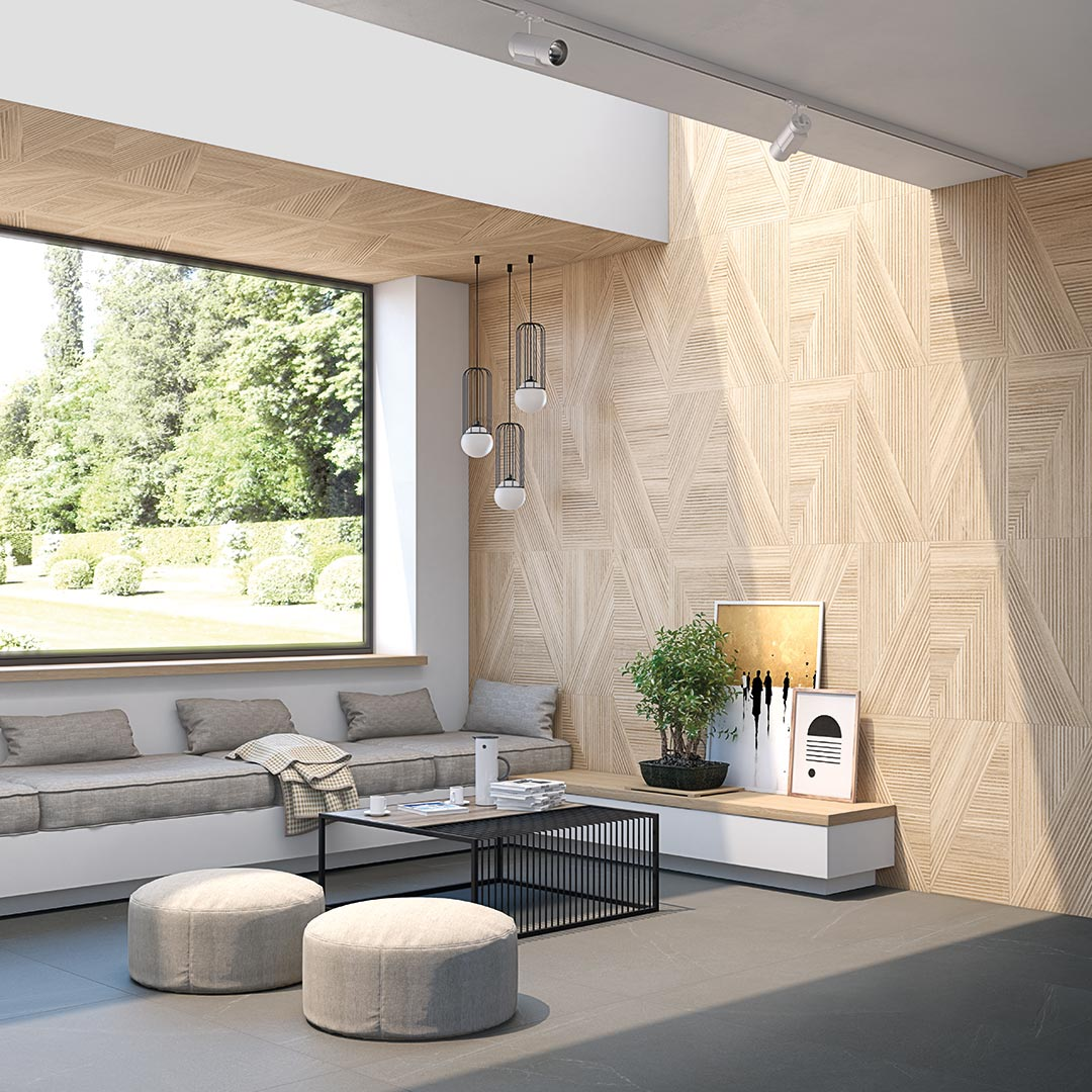 Stone,wood for Living rooms | Seine