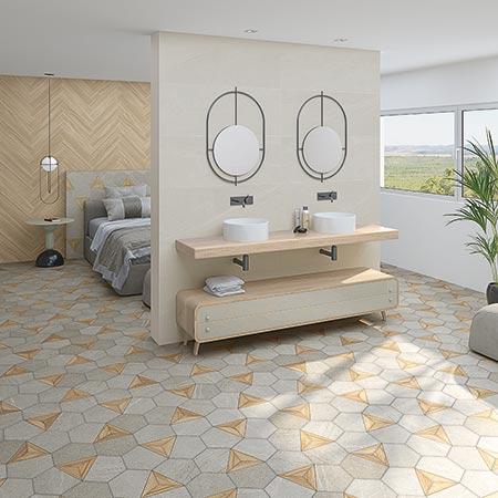 Wall And Floor Bathroom Tiles Vives Ceramica