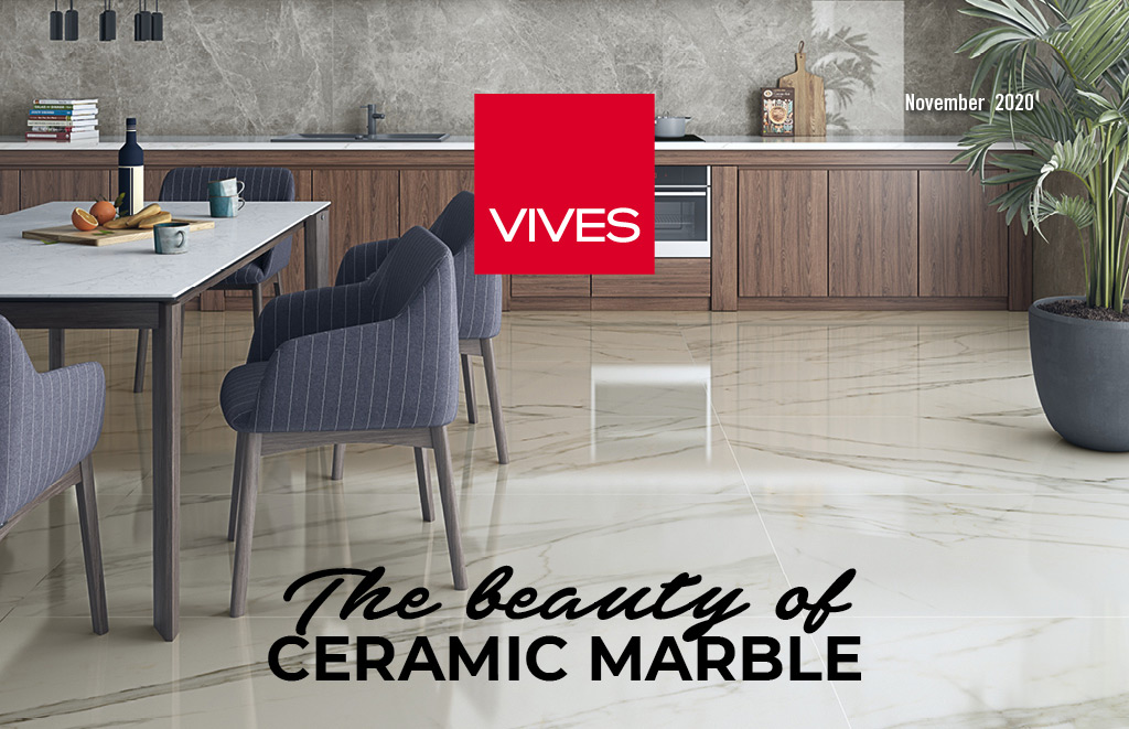 The beauty of ceramic marble