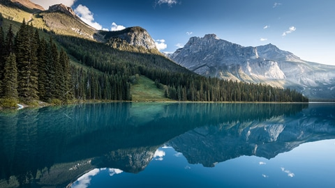 Emerald See en Brithsh Columbia Yoho National Park