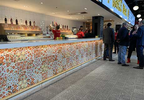 20x20 Rustic Wall tiles by Vives in Little Spain New York
