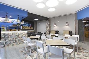 Portofino Grafito porcelain tiles terrazzo effect