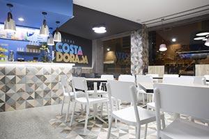 gres porcelánico imitación terrazo Portofino Grafito