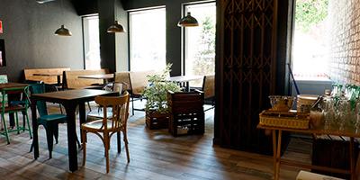 vintage ceramic wood tile flooring Faro by VIVES