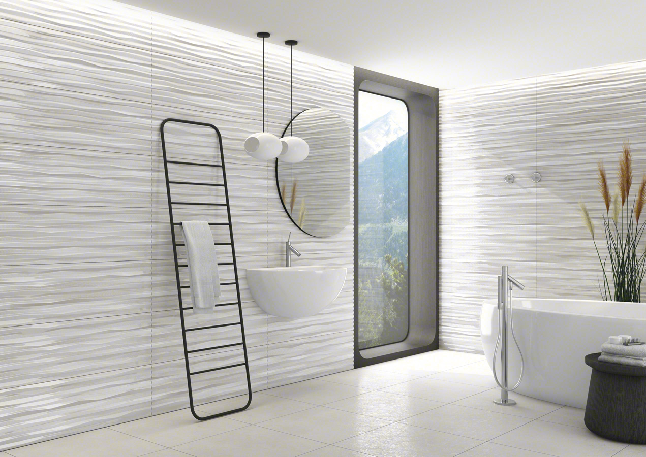 Vives wall tiles white body chamarel 32x99 for Carrelage 25x40