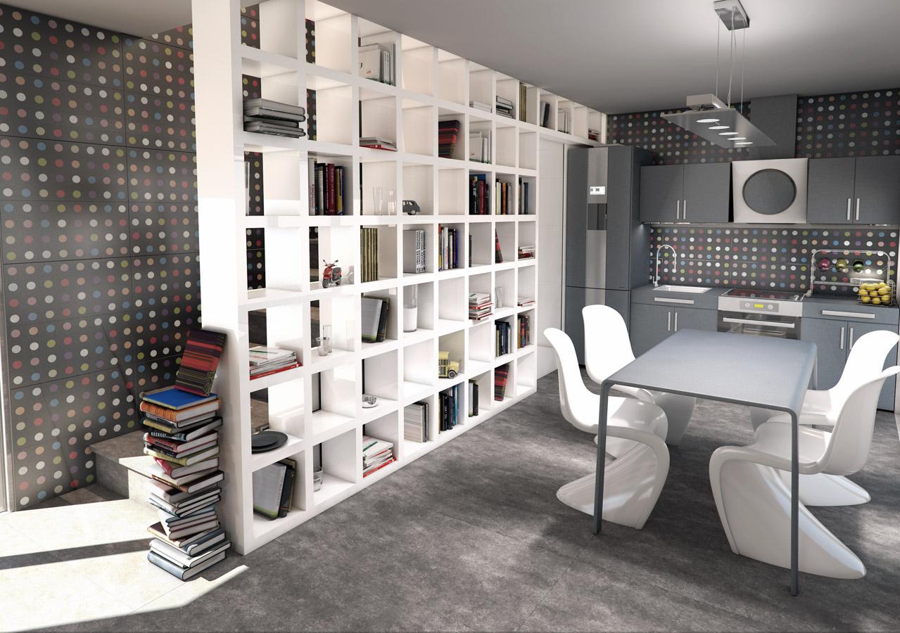 Vives Revestimiento Pasta Blanca Satinados 25×75 # Muebles Divisorios