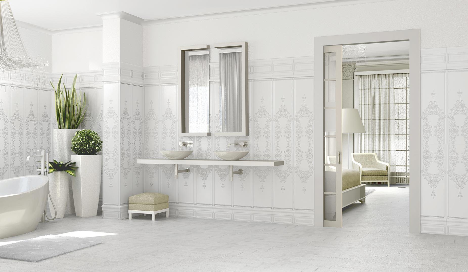 Vives wall tiles white body satinados 33 3x100 - Azulejo 15x15 ...