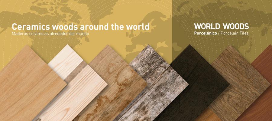 WORLD WOODS. Pavimentos de gres imitación madera