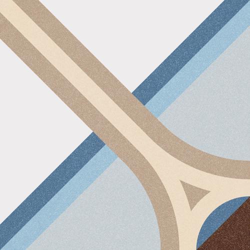 base pavimento Montaner Azul 20X20, gres