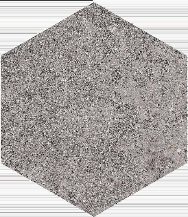 base porcelánico Hexágono Benson Basalto 23X26,6, porcelánico