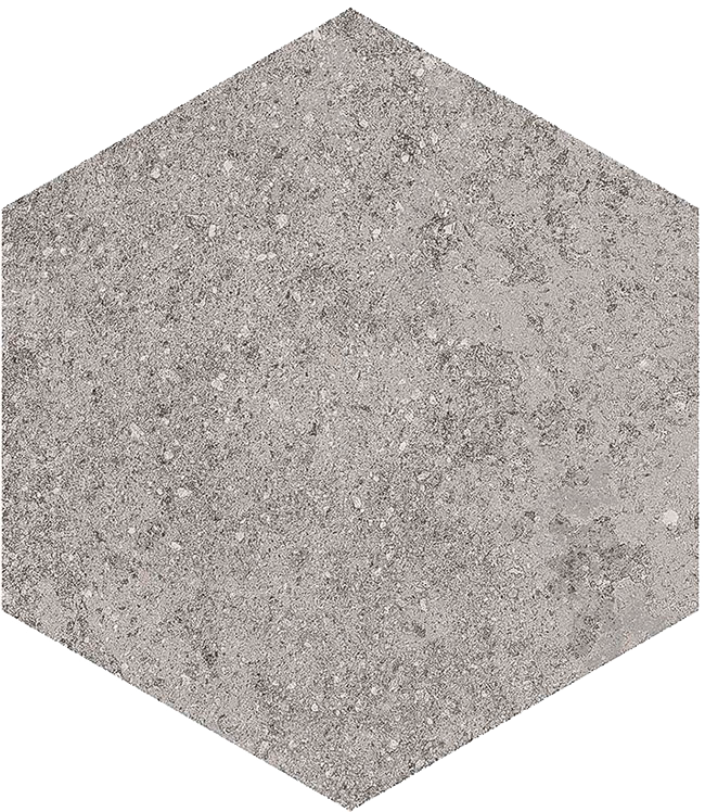 base porcelánico Hexágono Benson Gris 23X26,6, porcelánico