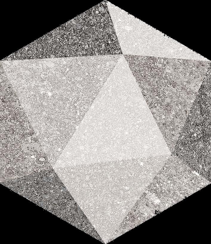 base porcelánico Hexágono Luton Multicolor 23X26,6, porcelánico