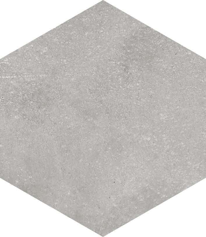 base porcelánico Hexágono Rift Cemento 23X26,6, porcelánico