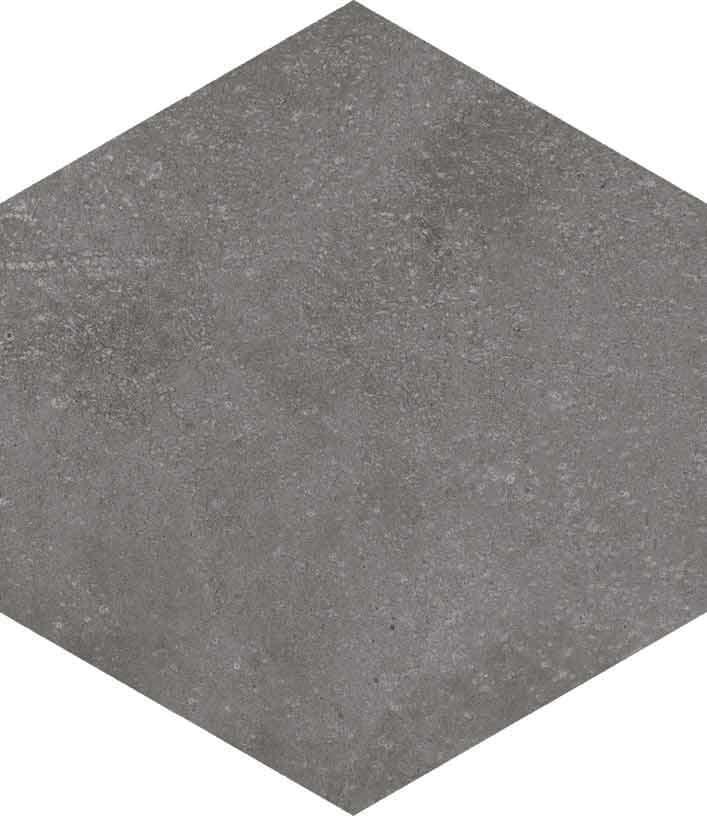 base porcelánico Hexágono Rift Grafito 23X26,6, porcelánico