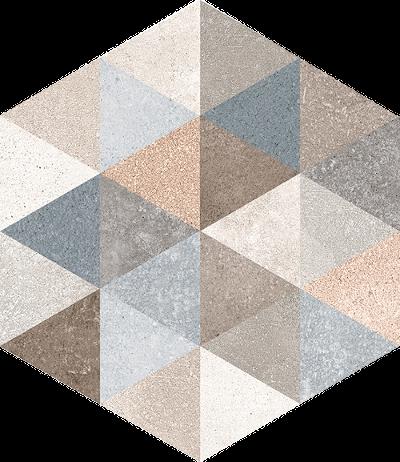 base porcelánico Hexágono Fingal 23X26,6, porcelánico