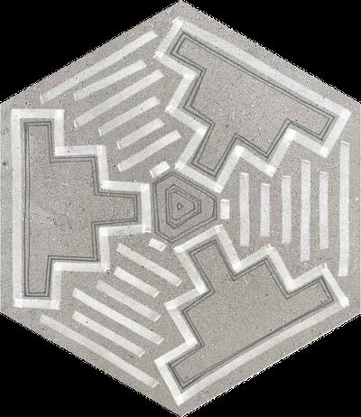 base porcelánico Hexágono Igneus Cemento 23X26,6, porcelánico